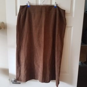 Norton McNaughton Faux Suede Skirt